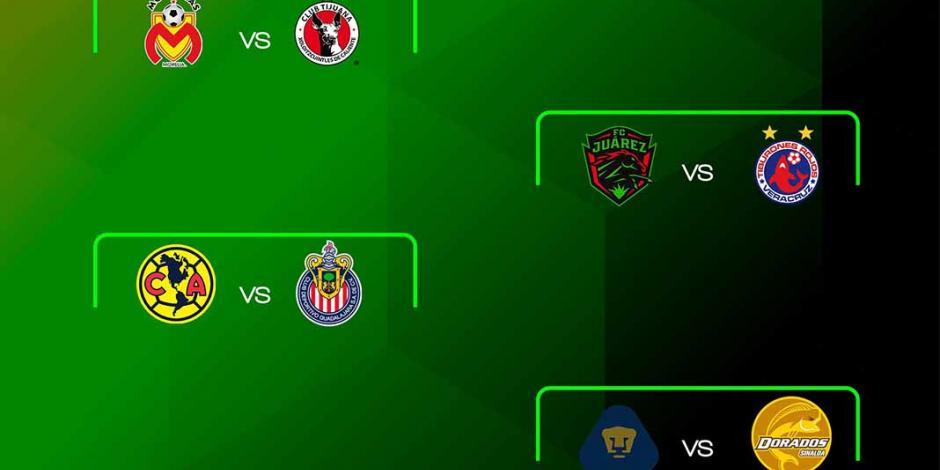 Habrá Clásico Nacional en los cuartos de final de la Copa MX