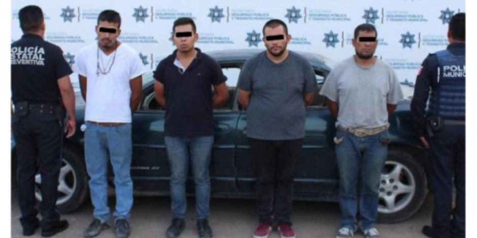 Liberan a víctima y detienen a cuatro presuntos secuestradores en Puebla