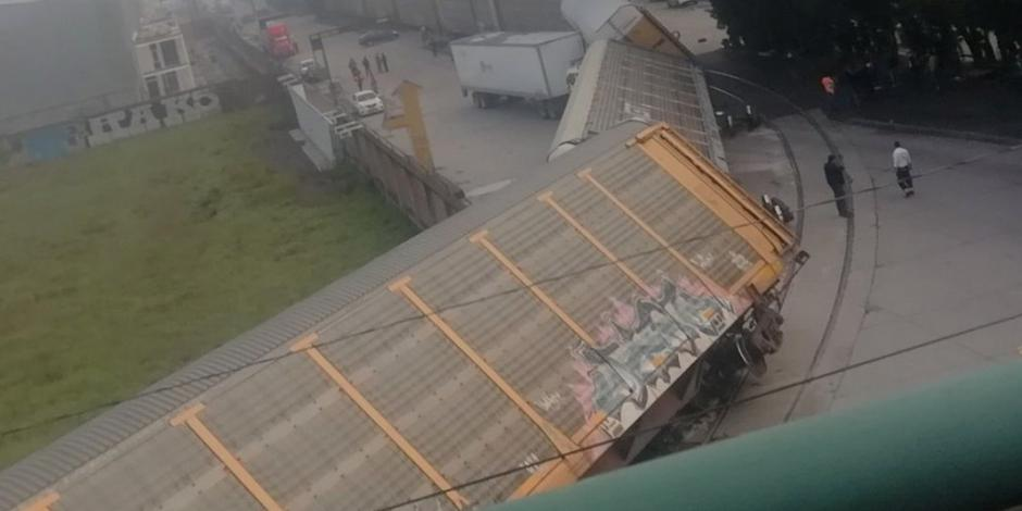 FOTOS: Se descarrila tren en Toluca; no hay heridos