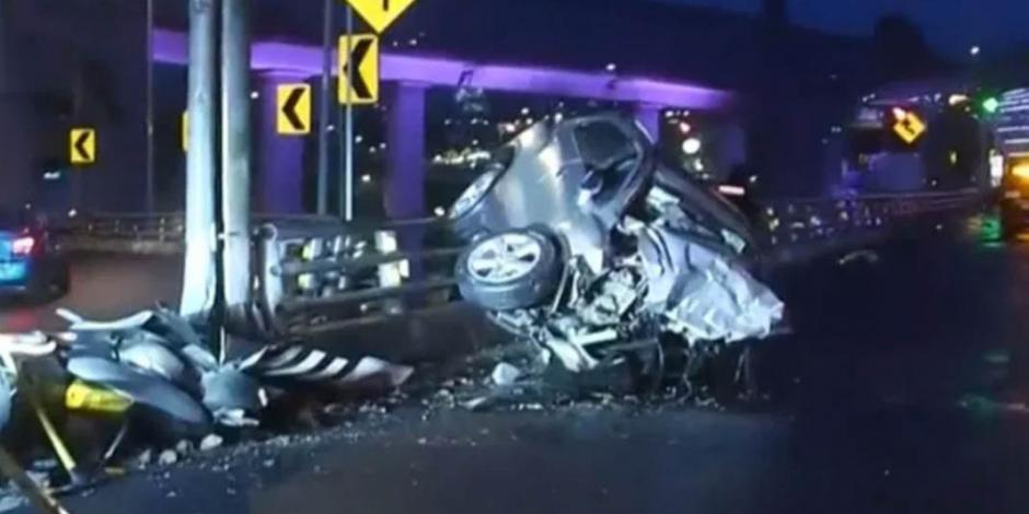 Muere joven conductora en Segundo Piso del Periférico