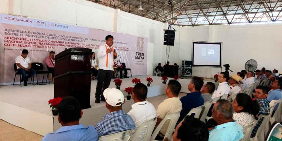 Realizan asambleas previo a consulta para decidir Tren Maya