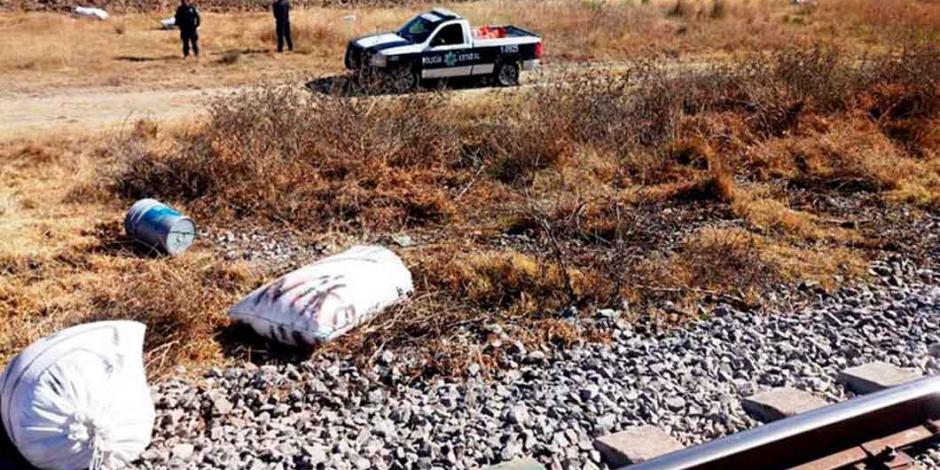 Elementos de Guardia Nacional evitan robo de mercancía de trenes en Tlaxcala