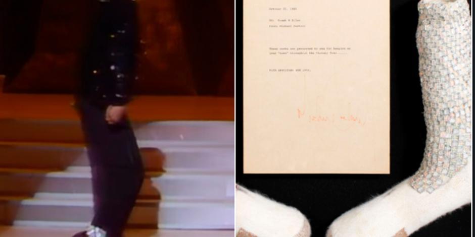 """Subastan calcetines de Michael Jackson con los que hizo el """"Moonwalk"""""""