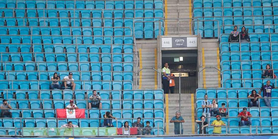 Afición, la gran ausente en los estadios de la Copa América