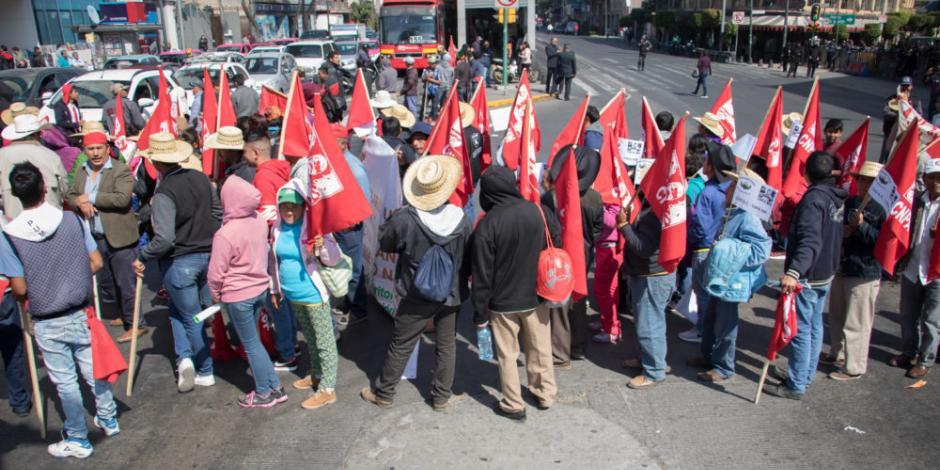 FOTOS: Así se desarrollan protestas de campesinos en CDMX y en estados