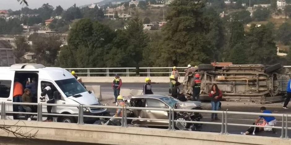 Mueren 6 por accidente en carretera Tlaxcala-Apizaco