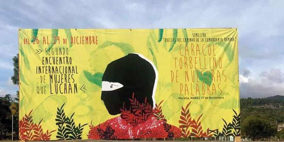 Llegan a encuentro zapatista contra violencia de género