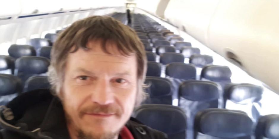 Un hombre viaja solo en un avión de 188 pasajeros