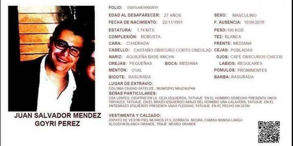 Reportan desaparición de joven de 27 años en Naucalpan, Edomex