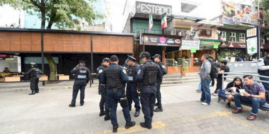 Riña de pareja desató disparos en bar de Copilco, señala policía