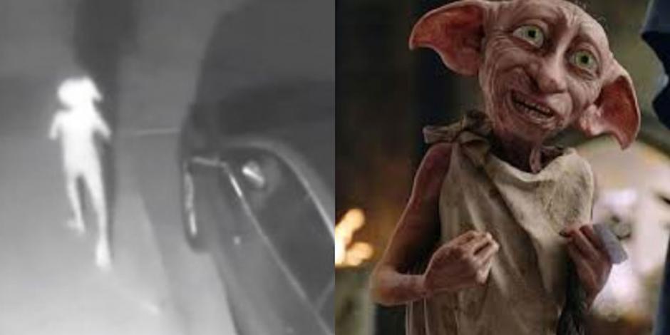 Dobby-saliendo-de-la-casa-a-grabar-la-escena-en-la-que-muere-en-los-brazos-de-Harry.