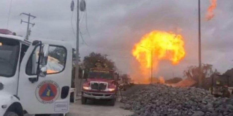 Abaten incendio tras fuga de gas en Reynosa, Tamaulipas