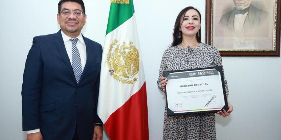 Recibe Naucalpan reconocimiento por Modernización Catastral