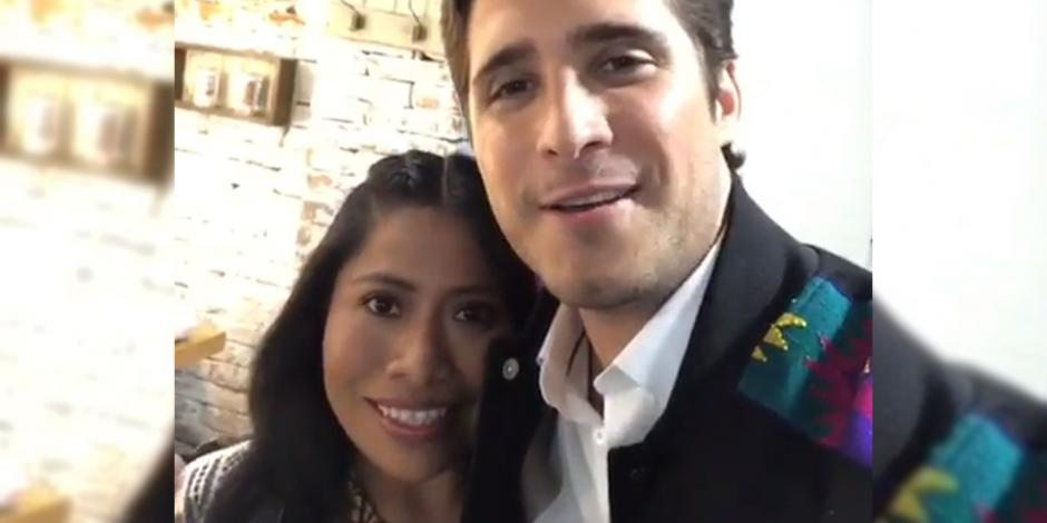 VIDEO: Anuncian Yalitza Aparicio y Diego Boneta un proyecto juntos