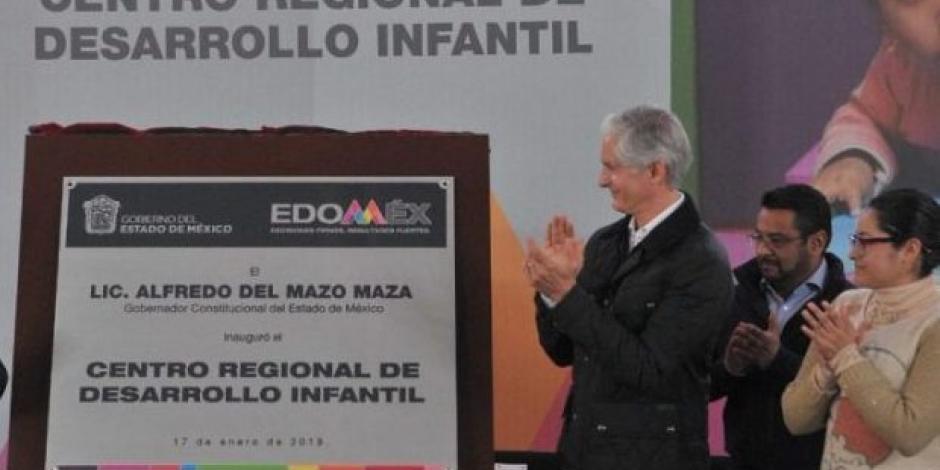 Alfredo del Mazo pone en marcha un Centro Regional de Desarrollo Infantil