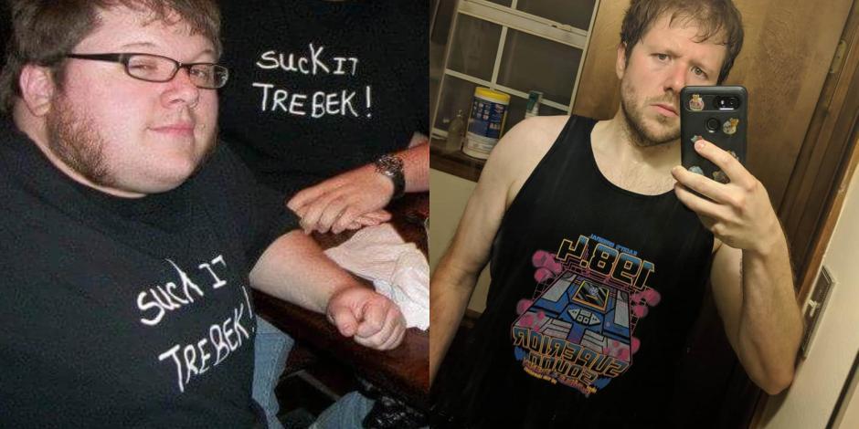 FOTOS: Joven pierde 57 kilos con ayuda de un videojuego