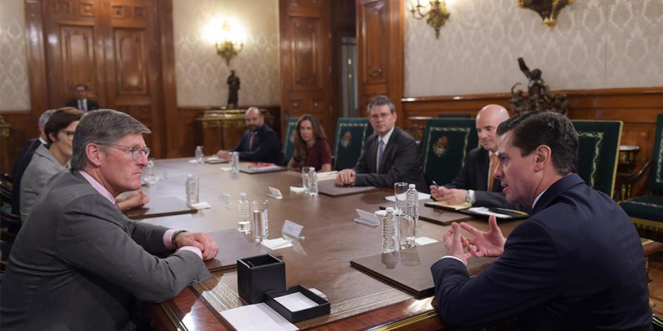Celebra EPN sistema financiero sólido en reunión con Citigroup