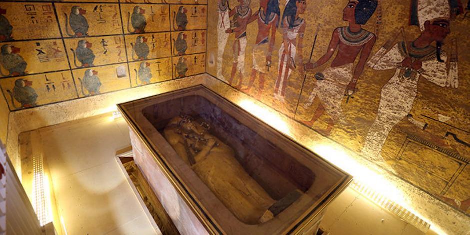 Georradares tiran teoría sobre tesoros ocultos en tumba de Tutankamón