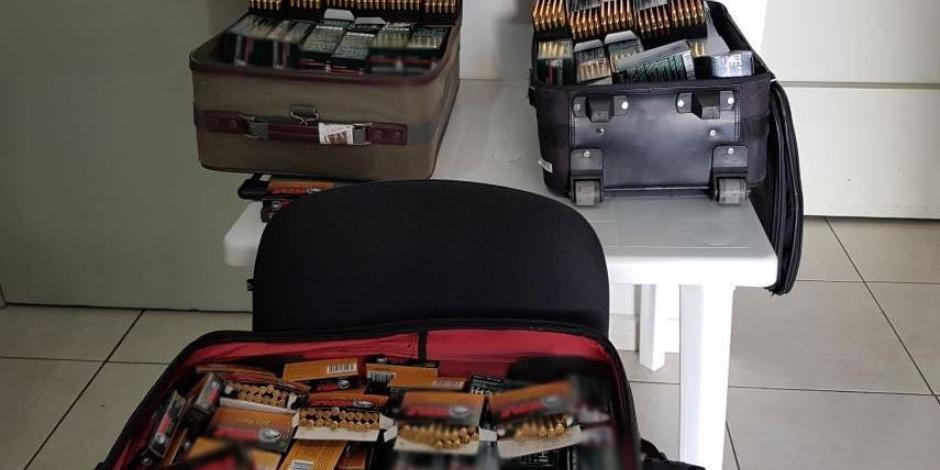 Detienen en autobús a hombre con 9 mil cartuchos en Sinaloa