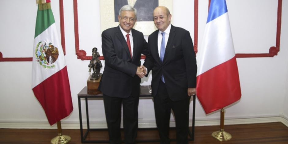 Francia manifiesta confianza en gobierno de transición: Ebrard