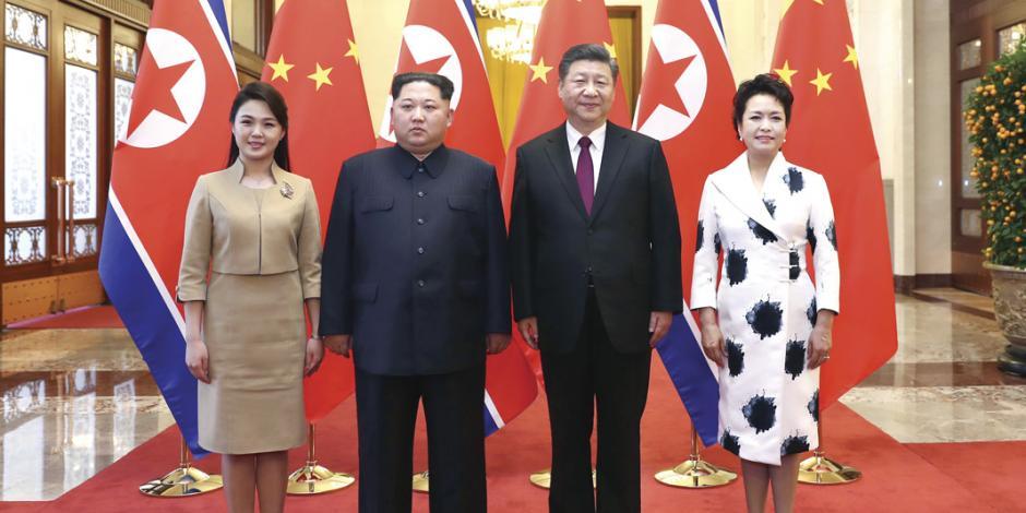 Kim se reúne con Xi Jinping en primera salida de Norcorea