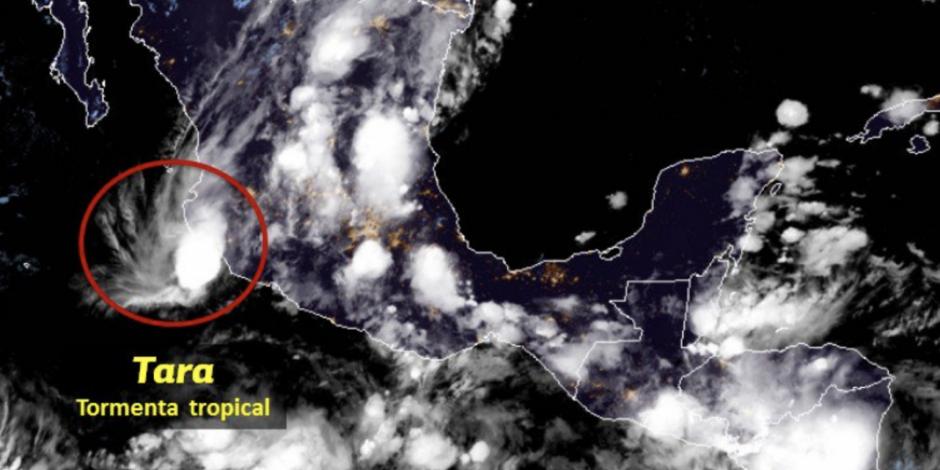 Centro de la tormenta Tara se localiza más cerca de la costa de Colima
