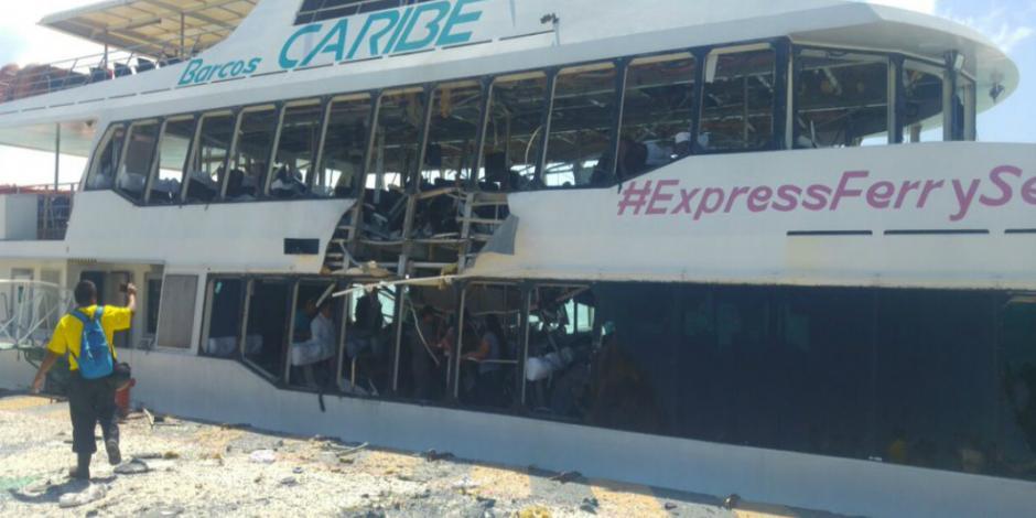 EU ofrece colaborar en investigación de explosión de ferry en Playa del Carmen