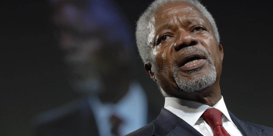 El mundo se despide del Nobel de la Paz, Kofi Annan