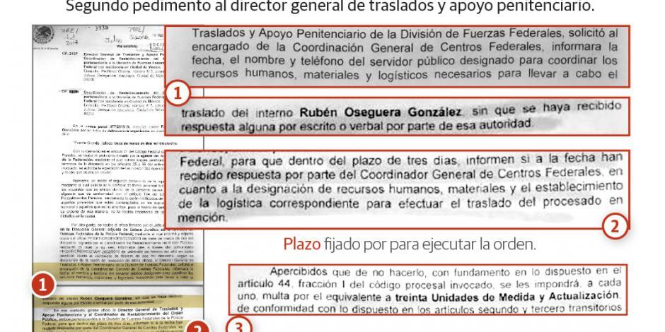 Juez insiste en traslado del Menchito a Jalisco