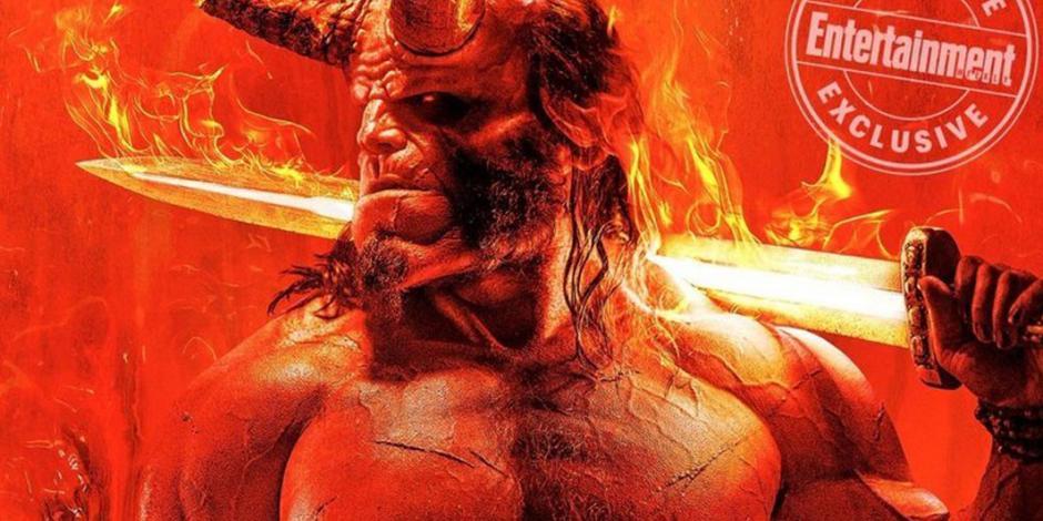 Presentan póster de nueva entrega de Hellboy