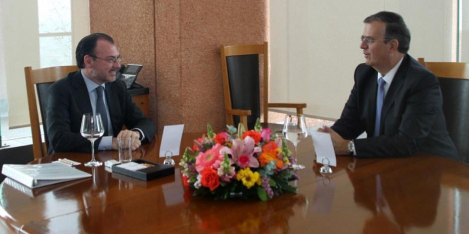 Se reúnen Luis Videgaray y Marcelo Ebrard