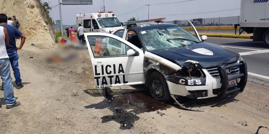 Patrulla atropella y mata a dos obreros en Naucalpan
