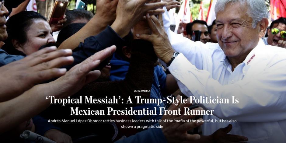 Reportaje del Wall Street Journal compara a AMLO con Trump