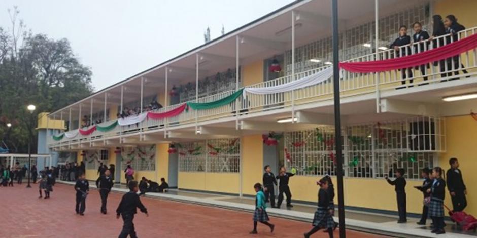 Arreglan escuelas afectadas por 19-S