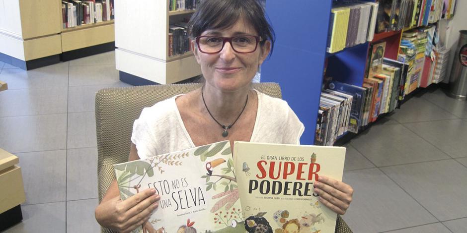 Artista desafía a pequeños lectores en libros ilustrados