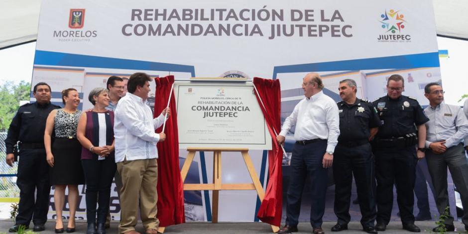 Entrega Graco Ramírez comandancia rehabilitada en Jiutepec