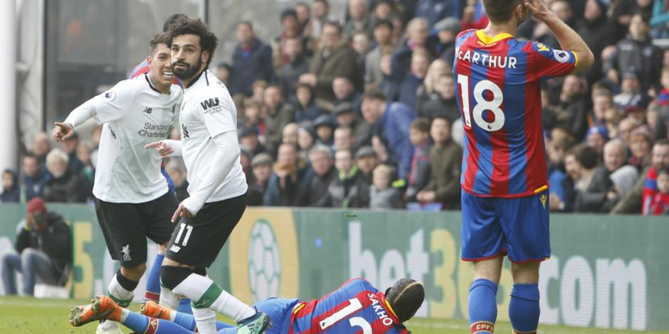 Liverpool vence 2-1 al Crystal Palace en Liga Premier