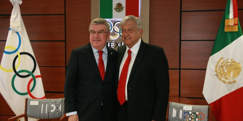 López Obrador se reúne con presidente del COI