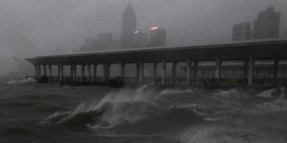 FOTOS: China y Hong Kong se preparan para la llegada del tifón Mangkhut
