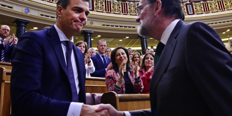 Destituye Congreso español a Rajoy; Pedro Sánchez, nuevo presidente de España