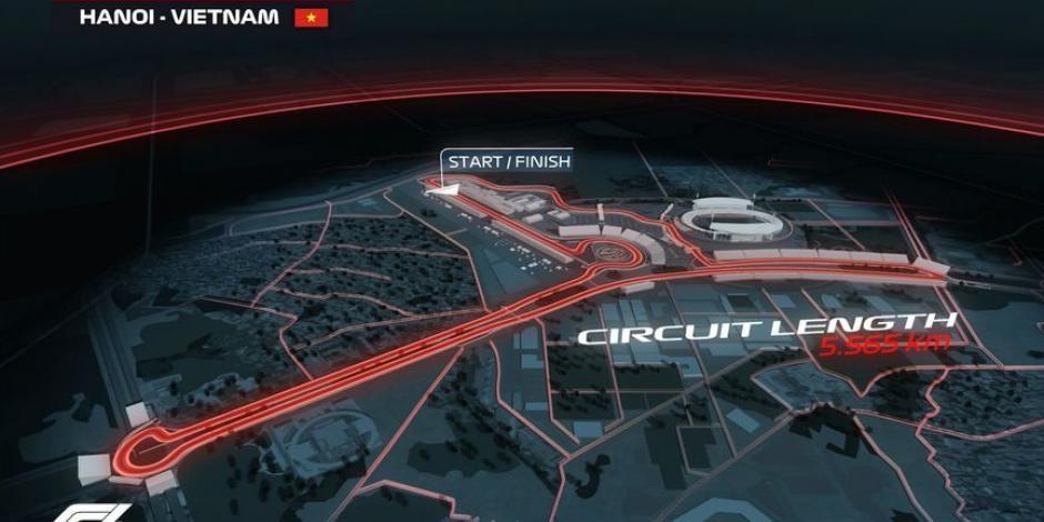 Así será la pista de la F1 en Vietnam,