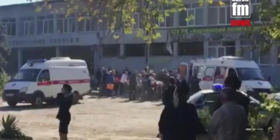 Posible atentado en escuela de Crimea deja 18 muertos y 50 heridos
