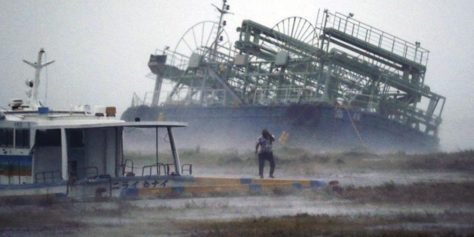 Tifón Trami golpea a Japón; van 84 heridos