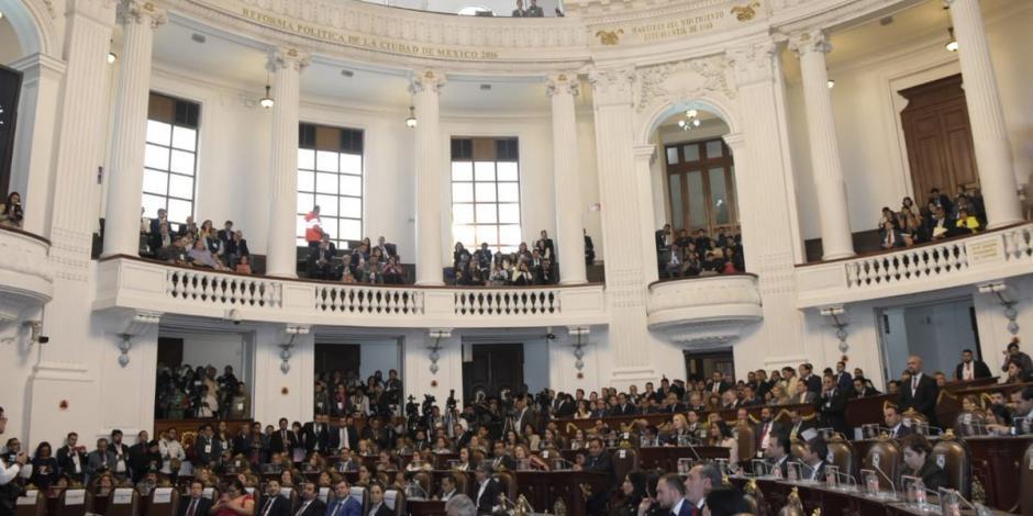 Congreso de la CDMX declara entrada en vigor la Constitución capitalina