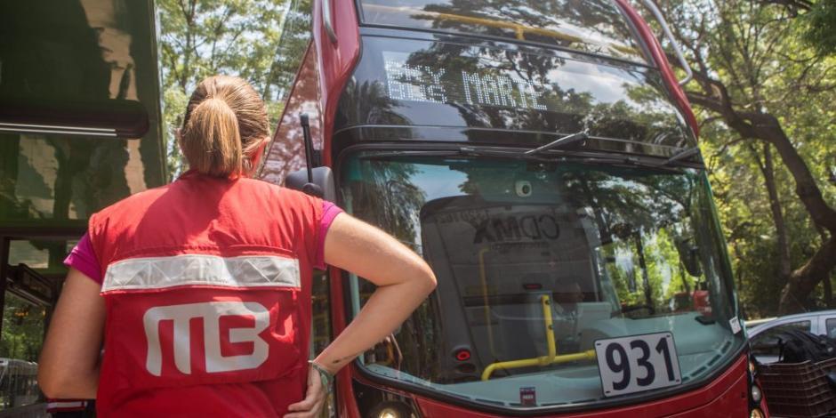 Sin servicio estación Misterios del Metrobús Reforma en CDMX