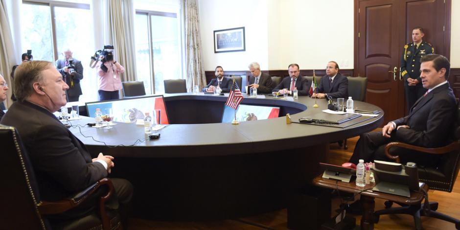 Nosotros definimos nuestra política migratoria, reitera EPN a Pompeo