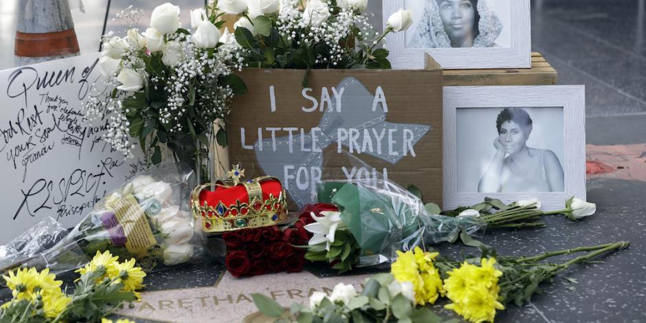 FOTOS: Despiden a Aretha Franklin en el Paseo de la Fama