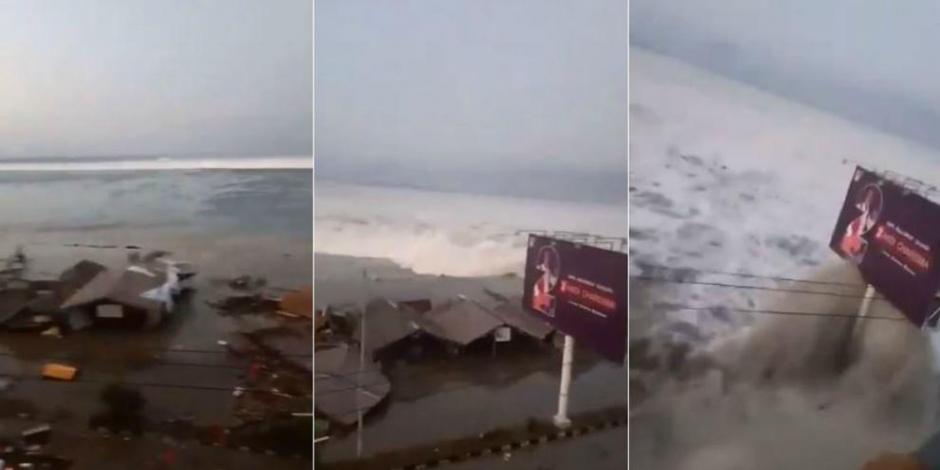 Tsunami azota ciudad de Indonesia tras terremoto de 7.5 grados