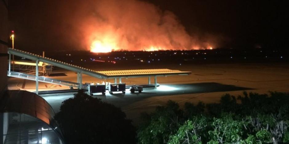 Suspenden actividades en Aeropuerto de Tuxtla Gutiérrez por incendio