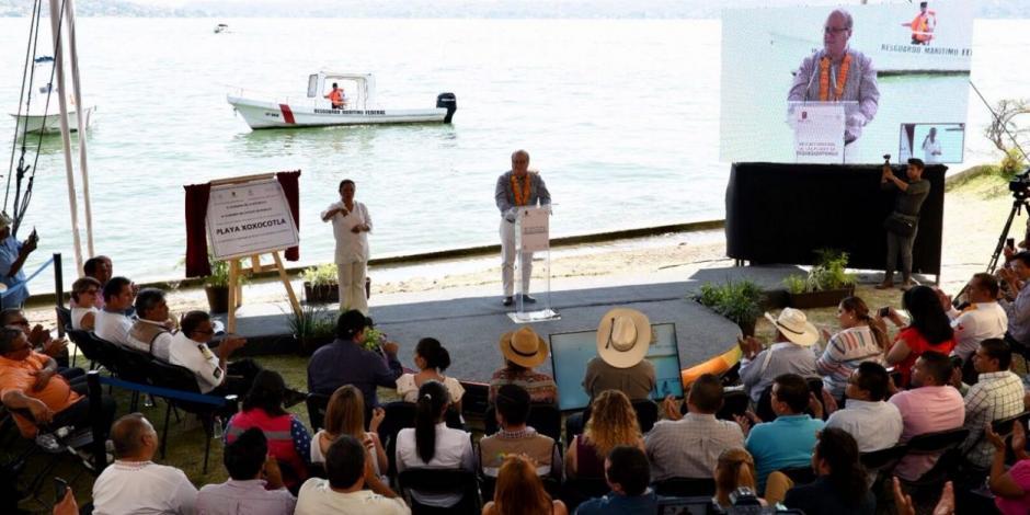 Rehabilita Graco cuatro playas en Tequesquitengo